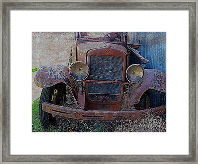 Framed Print featuring the photograph Out Of Service  by Irina Hays