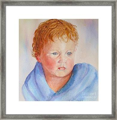 Out Of The Bath Framed Print