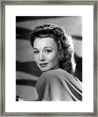 Out Of The Blue, Carole Landis, 1947 Framed Print
