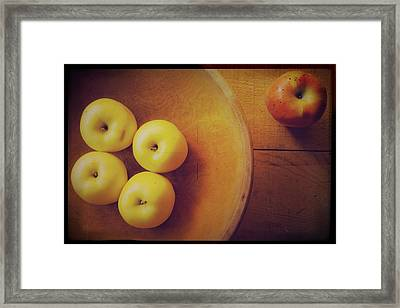 Out Of The Bowl Framed Print by Toni Hopper