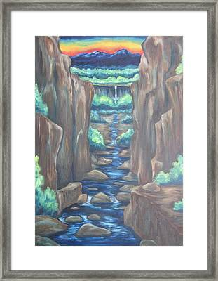 Out Of The Canyon Framed Print by Cheryl Pettigrew