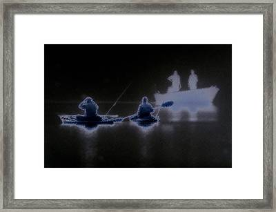 Framed Print featuring the photograph Out Of The Darkness by Myrna Bradshaw