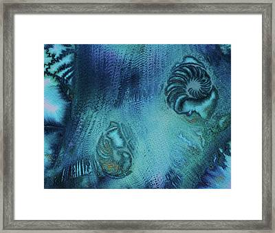 Framed Print featuring the painting Out Of The Depths by Mary Sullivan