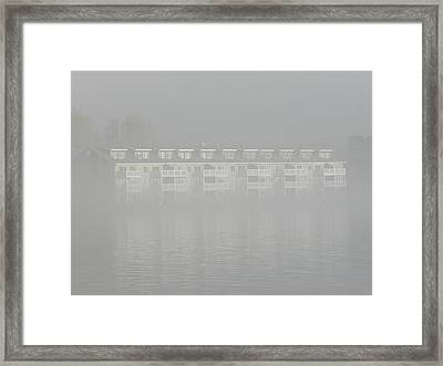 Out Of The Mist Framed Print by Dennis Leatherman