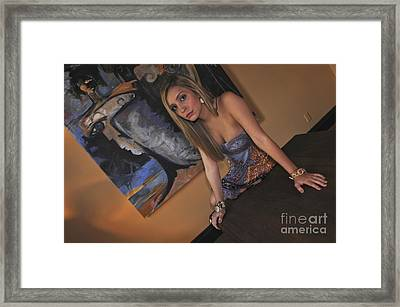 Framed Print featuring the photograph Out Of The Painting by Sherry Davis