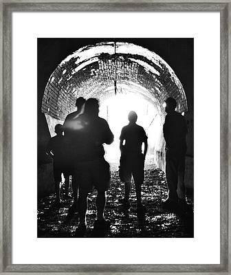 Out Of The Tunnel Framed Print by Betsy Knapp