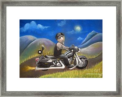 Out On The Road Framed Print