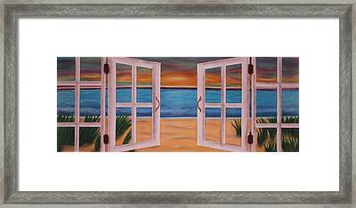 Out The Window Framed Print by Kat Starr