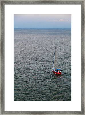 Out To Sea Framed Print by Chad Dutson