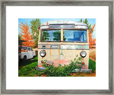 Out Where The Buses Don't Run Framed Print