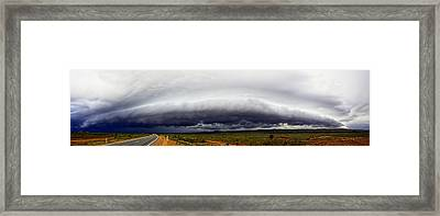 Outback Storm Panorama Framed Print