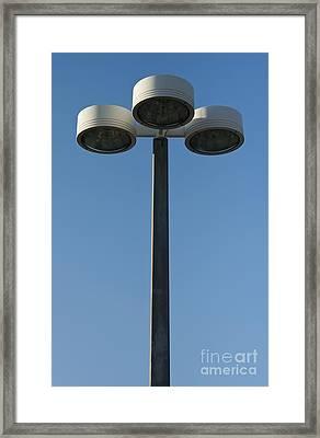 Outdoor Lamp Post Framed Print