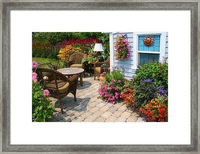 Outdoor Patio Framed Print by Cindy Haggerty