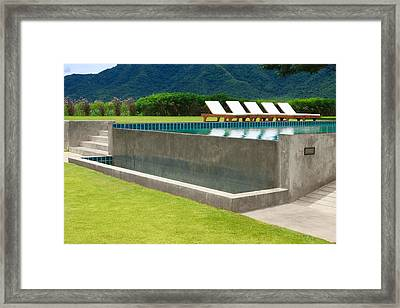 Outdoor Swimming Pool Framed Print