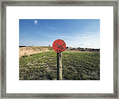 Outdoor Target Framed Print by Skip Nall