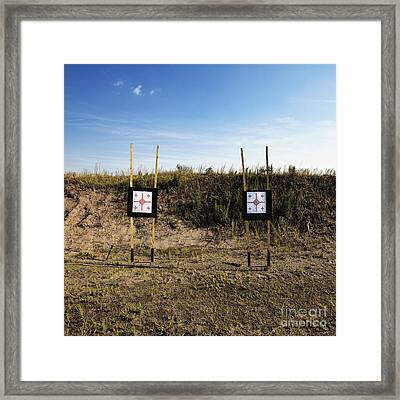 Outdoor Targets Framed Print by Skip Nall