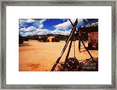 Outdoor Village Movie Set Framed Print