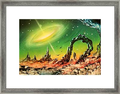 Outer Eye Galaxy Framed Print by Tony Vegas