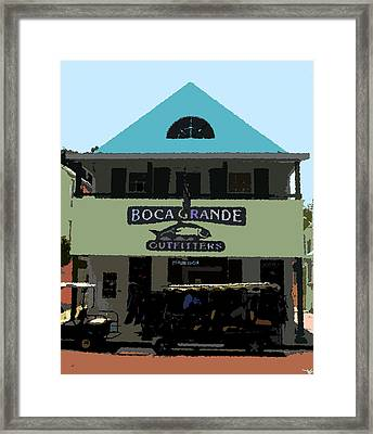 Outfitters Boca Grande Style Framed Print