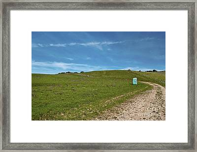 Outhouse On Lonely Road Framed Print by Eddy Joaquim