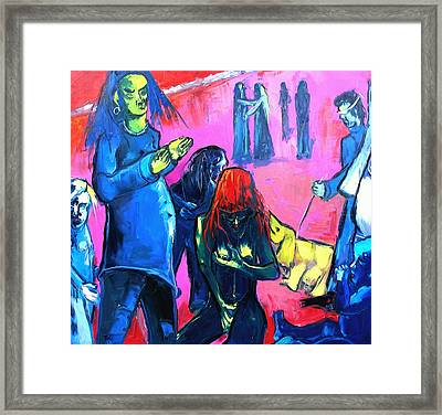 Outing On A Sunny Afternoon Framed Print by Kenneth Agnello