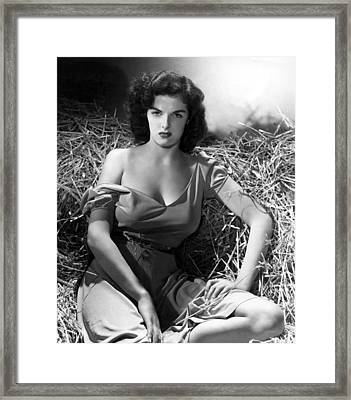 Outlaw, Jane Russell, 1943, Cleavage Framed Print