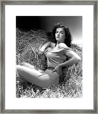 Outlaw, Jane Russell, Photo By George Framed Print by Everett