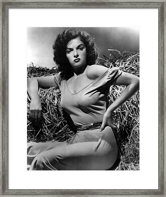 Outlaw, The, Jane Russell, 1943 Framed Print by Everett