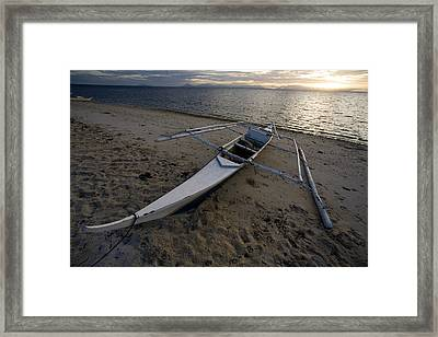 Outrigger Fishing Boats Pulled Framed Print