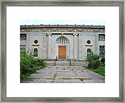 Framed Print featuring the photograph Outside Closed Doors by MJ Olsen