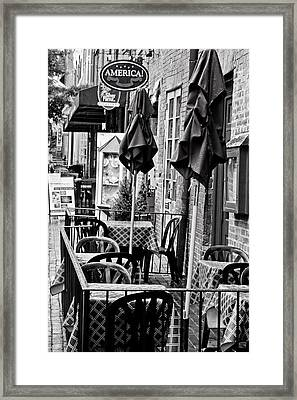 Outside Dining  Framed Print