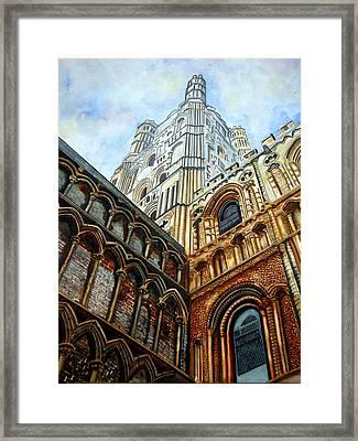 Outside Ely Cathedral Framed Print by Emmanuel Turner