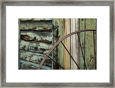 Framed Print featuring the photograph Outside Of An Old Barn by Nancy De Flon