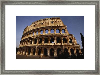 Outside Of The Collosseum, Rome, Italy Framed Print by Paul Chesley