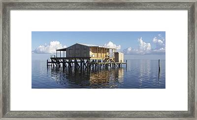 Outside Plumbing Framed Print by Kevin Brant