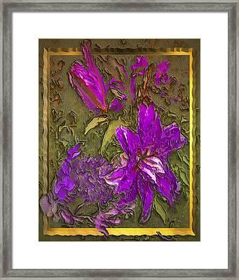 Outside The Frame Framed Print by Jill Balsam