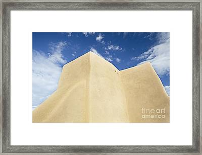 Outside Wall Of The San Francisco De Asis Mission Church Framed Print by Bryan Mullennix