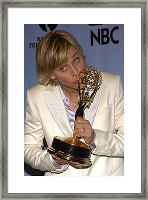 Outstanding Talk Show Host Winner Ellen Framed Print