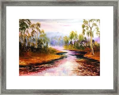 Oven's River Myrtleford Framed Print