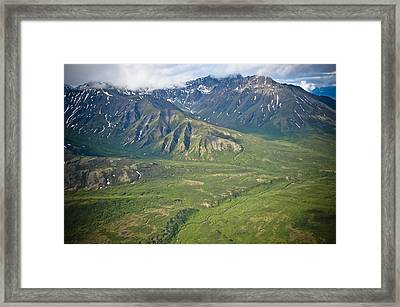 Over Alaska Framed Print by Jen Morrison