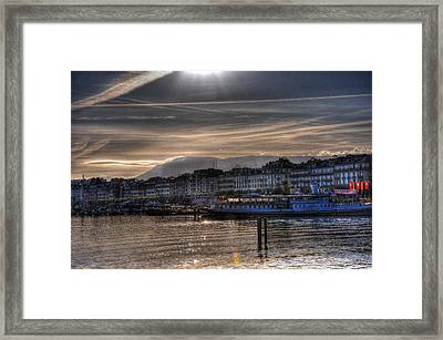 Over The Bay Framed Print by Barry R Jones Jr