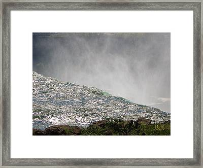Over The Brink Of Niagara Falls  Framed Print by J R Baldini  M Photog