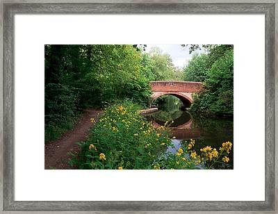 Over The Canal Framed Print by Shirley Mitchell