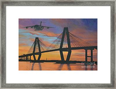 Over The Cooper Framed Print
