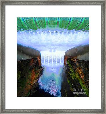 Framed Print featuring the photograph Over The Edge by Ann Johndro-Collins