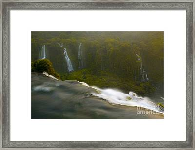 Over The Edge Framed Print by Keith Kapple