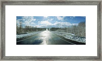 Over The Hill And Beyond Framed Print by Jan W Faul