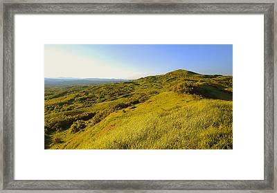 Over The Hills Framed Print
