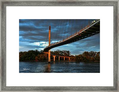 Over The Muddy Mo Framed Print