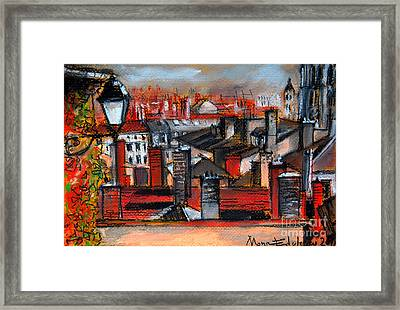 Over The Roofs Framed Print by Mona Edulesco